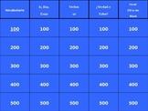 Spanish Así se dice Level 1, Chapter 3 Review Jeopardy (Po