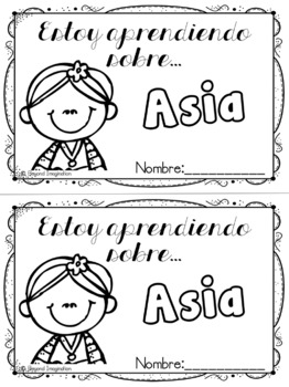 Spanish Asia Continent Booklet | 48 Pages for Differentiated Learning + Bonus
