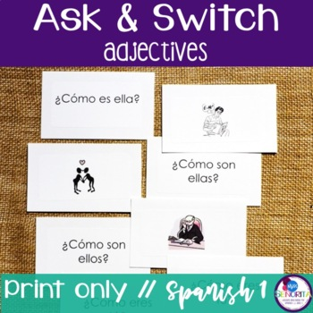 Spanish Speaking Activity with Adjectives