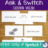 Spanish Speaking Activity with Clothing