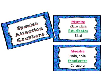 Spanish Attention Grabbers