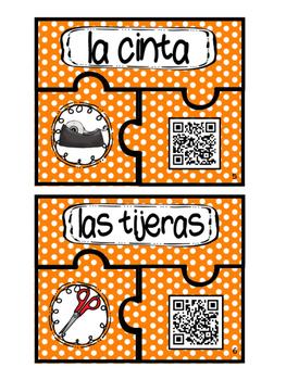 Spanish Audio QR Codes - Los materiales