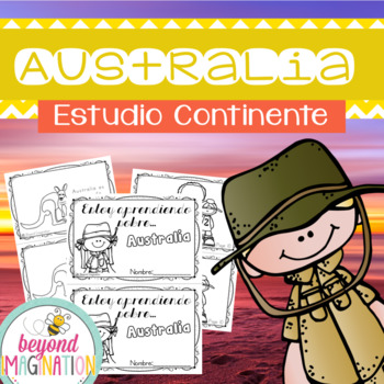 Spanish Australia Continent Booklet | 48 Pages for Differentiated Learning