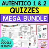 Auténtico Realidades 1 & 2 Vocab List Quiz MEGA BUNDLE wit