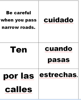 Spanish Auténtico 3B Sentence Mixers