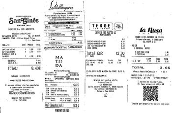Spanish - Authentic Spanish Receipts Cultural Activity