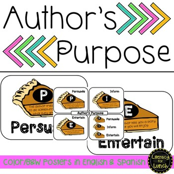 Spanish Author's Purpose Posters