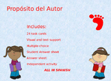 Spanish Authors Purpose Proposito del Autor Task Cards