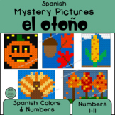Spanish Color By Number Mystery Pictures for Autumn!