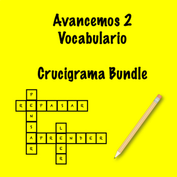 Spanish Avancemos 2 Crosswords Bundle