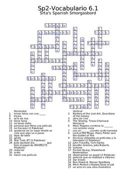 Spanish Avancemos 2 Vocab 6.1 Crossword