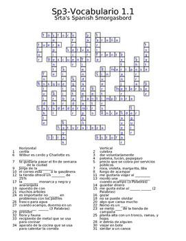 Spanish Avancemos 3 Vocabulary Crossword Bundle