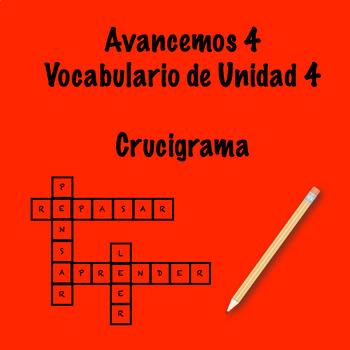Spanish Avancemos 4 Vocab 4.2 Crossword