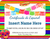Spanish Award Certificate Template