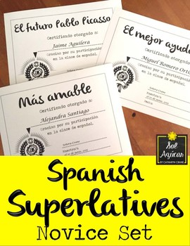 Spanish End of Year Award Certificates - Formal Theme Set #2