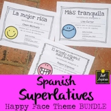 Spanish End of Year Award Certificates - Happy Face Theme BUNDLE