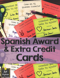 Spanish Awards, Notes, and Extra Credit Cards - Sample Set