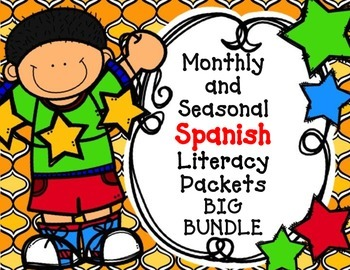 Spanish BIG BUNDLE: Spanish No Prep Monthly and Seasonal Packets