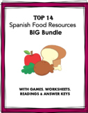 Spanish Food Bundle: La comida: 12 Resources @ 40% off! (Readings + Games)