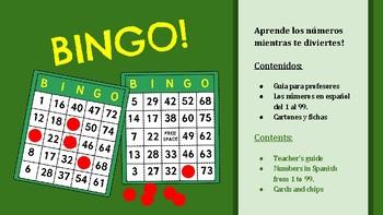 Spanish BINGO! Let's play! - Printable cards