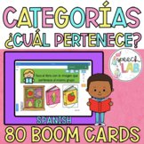 Spanish BOOM Cards | Category Inclusion | Inclusión Categórica