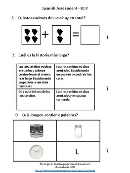 Spanish BOY Assessment Kindergarten 2019