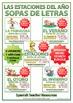 Spanish BUNDLE - Seasons Word Search - Las Estaciones - Sopa de Letras