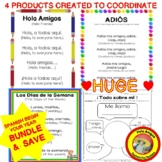 Spanish BUNDLE printables  -¡Todo sobre mí!, Opening & End