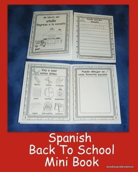 Spanish Back To School Mini Book