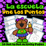 Spanish Back to School Activities : Number Sense - Dot to Dot - Une los Puntos