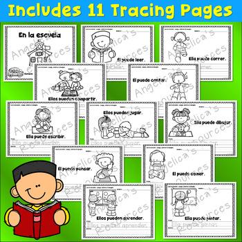 Back to School Activities: Sentences in Spanish - Palabras de uso frecuente