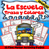 Spanish Back to School Activities: Tracing -Fine Motor Skills - Just Print & Go!