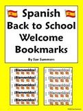 Spanish Back to School Bienvenidos Bookmark