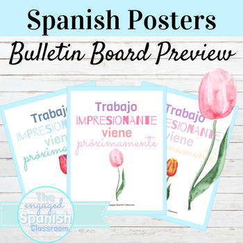 Spanish Back to School Bulletin Board Preview Posters