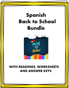 Spanish Back to School Bundle - 5 Resources for Spanish 1 @30% 0ff!