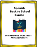 Spanish Back to School Bundle - 5 Resources for Spanish 1