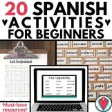 Spanish 1 Activities - Back to School Spanish - Bundle 1