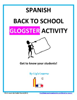 Spanish Back to School Glogster Activity!
