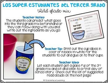 Spanish Back to School - Los súper estudiantes del tercer grado