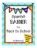 Spanish Back to School Pennant/Banner