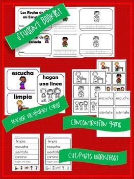 Spanish Back to School Rules Vocabulary Unit