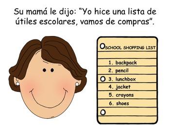 Spanish Back to School Shopping ELL