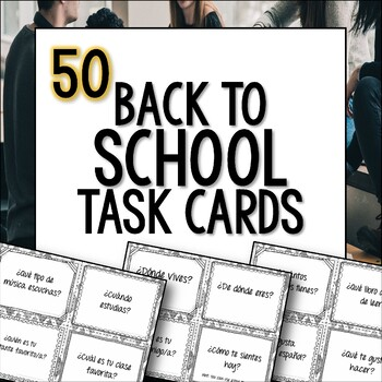 Spanish Back to School Task Cards First day Regreso a clases el primer día