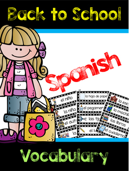 Spanish Back to School Vocabulary