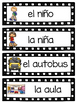 Spanish Back to School Vocabulary