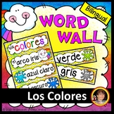 Spanish Classroom Decor Bilingual Word Wall Colors