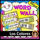 Spanish Classroom Decor - Bilingual Colors Word Wall