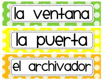 Spanish Back-to-School and Year-Round Resource Packet (polka dots)
