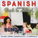 Spanish Back to School with Comprehensible Input Bundle