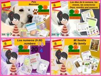 Spanish Back to school bundle